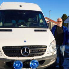 Vi har startet med minibuss-service